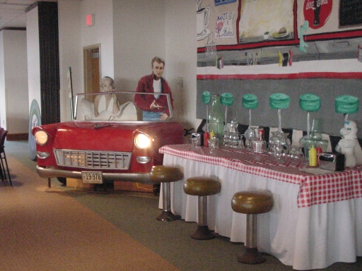 Snapshots from fabulous fifties october 2001 reunion for 50 s theme decoration ideas